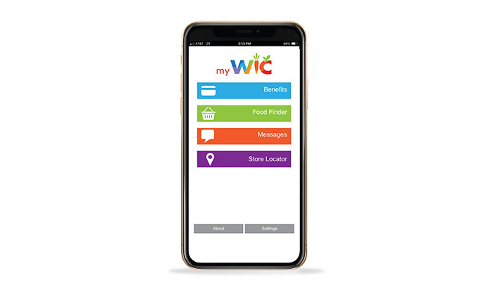My WIC Mobile App Screen on iPhone